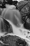 Roger Lewis Metal Prints - Falls in Black and White Metal Print by Roger Lewis