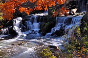 Water Mill Images Prints - Falls in the Fall Print by Larry Ricker