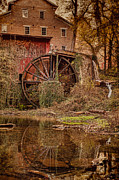 Grain Mill Framed Prints - Falls Mill Framed Print by Brett Engle