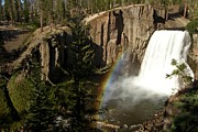 Devils Postpile Photos - Falls Under The Rainbow by Adam Jewell