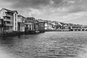 Mono Prints - Falmouth Waterfront Print by Brian Roscorla