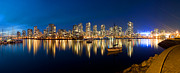 Vancouver Photos - False Creek At Dusk Ii by Terry Elniski