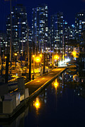 Jetty View Park Framed Prints - False Creek Marina Framed Print by Andrew Dobrzanski