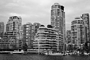 False Creek Prints - False Creek Yacht Club yacht harbour pointe and waterfront apartment buildings Vancouver BC Canada Print by Joe Fox