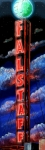 Iconic Paintings - Falstaff Neon Tower Sign by Terry J Marks Sr