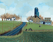 Crops Art - Family Dairy by John Wyckoff