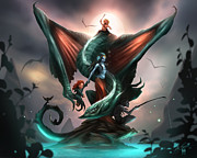 Alex Ruiz Metal Prints - Family Dragon Metal Print by Alex Ruiz