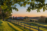 New England Sunrise Acrylic Prints - Family Farm Acrylic Print by Bill  Wakeley