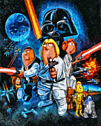 Xwing Framed Prints - Family Guy Star Wars Framed Print by Joe Misrasi