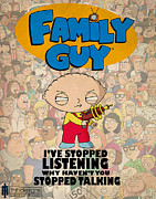 Lion Poster Prints - Family Guy Stewie Print by Farhad Tamim