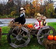 Straw Hats Photos - Family Hay Ride by Will Boutin Photos