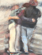 Relax Paintings - Family hug by Timi Johnson