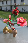 Flowers  Sculptures - Family of flowers by Guy Halvorson