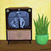 Television Paintings - Family Time by Snake Jagger