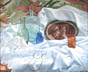 Antiques Paintings - Family Treasures by Janet McGrath
