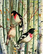 Family Trio Print by Marilyn Smith