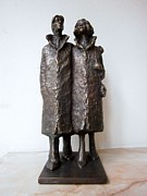 Family Sculpture Prints - Family walk Print by Nikola Litchkov