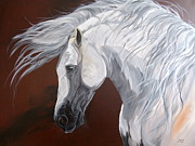 Horse Original Paintings - Famoso XI by Janina  Suuronen
