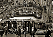 Wine Service Photo Metal Prints - Famous Cafe de Flore - Paris Metal Print by Carlos Alkmin
