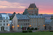 Famous Chateau Frontenac In Quebec City Print by Juergen Roth