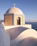 Greek Icon Posters - Famous orthodox church in Santorini Greece Poster by Matteo Colombo