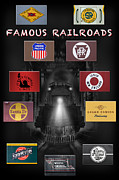 Logos Posters - Famous Railroads Poster by Mike McGlothlen