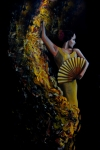 Traditional Spanish Dance Posters - Fan Dance Poster by Nancy Bradley