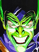 Avengers Painting Originals - Fan Made Alex Ross Green Goblin by Zakk Washington