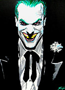 Jack Nicholson Painting Originals - Fan Made Alex Ross Joker by Zakk Washington