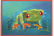 Fanciful Pastels Metal Prints - Fanciful Frog Metal Print by Diana Tripp