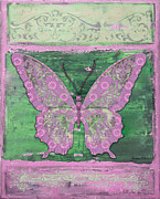 Inspirational Prints - Fanciful Purple Butterfly Print by Jean PLout