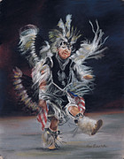Indian Pastels Prints - Fancy Dancer 1 Print by Kim Brecklein