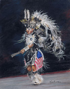 Dancer Pastels Originals - Fancy Dancer II by Kim Brecklein