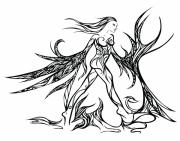 Female Fairy Abstract Prints - Fancy Flight  Print by Jamie Lynn