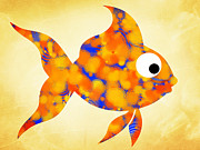 Marine Fish Digital Art - Fancy Goldfish by Christina Rollo