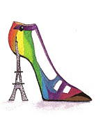 Fancy Parisian Shoe Print by Nan Wright