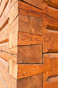 Cabin Corner Photos - Fancy timber joints on the corner of log cabin by Stephan Pietzko