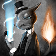 Fancy With Fire Print by Michael Myers