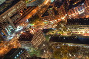 Faneuil Hall Framed Prints - Faneuil Hall from Above Framed Print by Joann Vitali