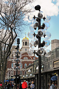 Cheers Posters - Faneuil Hall Marketplace Boston Poster by Marianne Campolongo