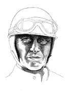 Diane Fine Drawings - Fangio by Diane Fine