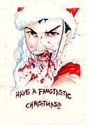 Santa Claus Paintings - Fangtastic by Storn Cook