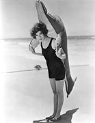 My Friend Photos - Fanny Brice And Beach Toy by Underwood Archives