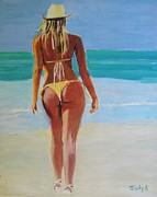 Tropical Painting Originals - Fanny by Judy Kay