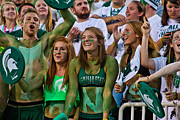 Msu Prints - fans at MSU Football Game  Print by John McGraw