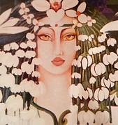 Woman Mixed Art  Giclee Prints Posters - FANTASIA  Art Deco Poster by Gunter E  Hortz