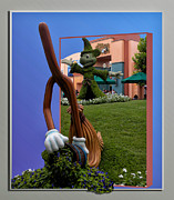 3d World Prints - Fantasia Mickey and Broom Floral Walt Disney World Hollywood Studios Print by Thomas Woolworth