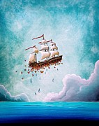 Ocean Ship Prints - Fantastic Voyage Print by Cindy Thornton