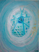 Seafoam Abstract Prints - Fantastical NYC Print by Manny Sani