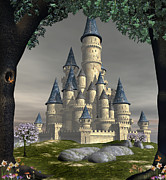 David Griffith Framed Prints - Fantasy Castle Framed Print by David Griffith